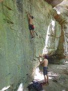 Rock Climbing Photo: sticking the match
