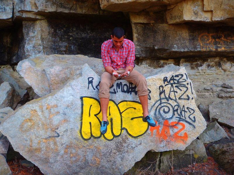 Rock Climbing Photo: Tony taking a rest
