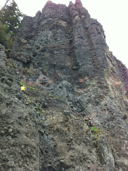 "This is a line straight up the North face of The Steeple. The route is ""Brother Mike"""
