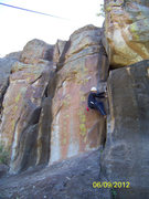 Rock Climbing Photo: Right Deseption Crack.  My very first climb...