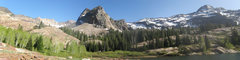 Rock Climbing Photo: Panorama of the Sundial/Lake Blanche area. Note th...