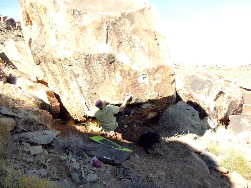 Rock Climbing Photo: Nate Brun on buck nasty v11