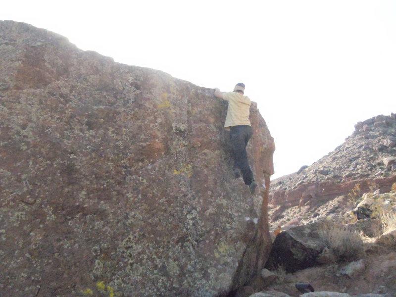 Rock Climbing Photo: nate brun  FA v hard