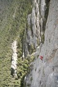 Rock Climbing Photo: Scott Salzer on the last pitch of the first ascent...