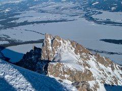 Rock Climbing Photo: Teewinot and Jenny Lake from Grand Teton.