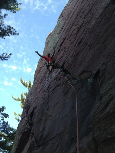 Rock Climbing Photo: No hands resting during my 35 route birthday chall...