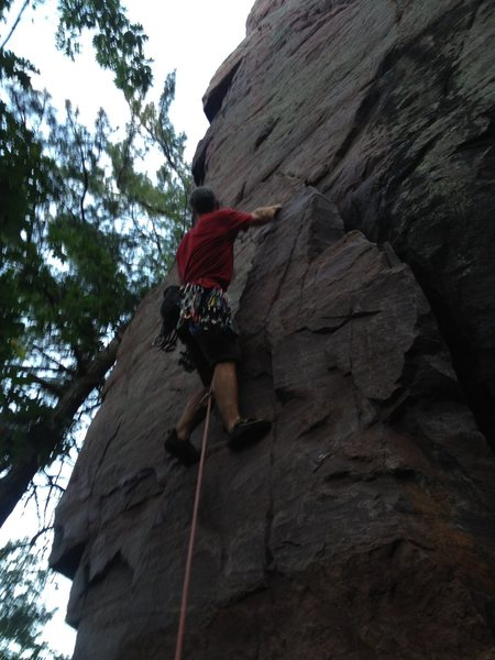 Rock Climbing Photo: A lead of the Pedestal with Dave Matous on B.D.C. ...