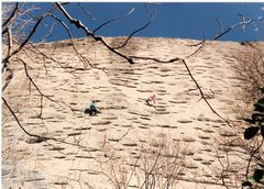 Rock Climbing Photo: CC starting out on The Sea of Brows by the Waste s...