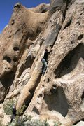 Rock Climbing Photo: Justing on the starting moves.