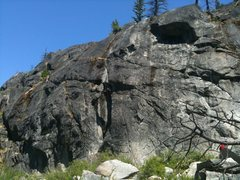 Rock Climbing Photo: Most of The O-Zone is visible here.  O-Crack split...