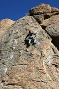 Rock Climbing Photo: Moving up to the the difficulties on the first asc...