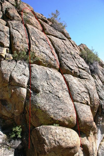 Rock Climbing Photo: Unknown routes up to ring anchors on the First Wav...