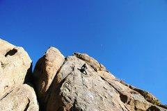 Rock Climbing Photo: Justin cruising the finishing moves on Honeymoon's...