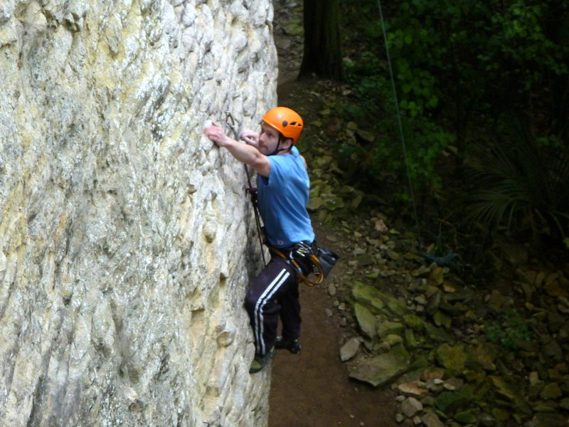 Rock Climbing Photo: Moonshine post crux