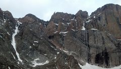 Rock Climbing Photo: Lower East face of Long's on 6/6/2012.