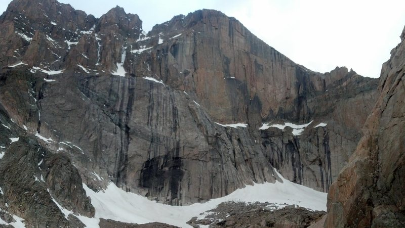 The Diamond as seen from the east side of Chasm Lake.