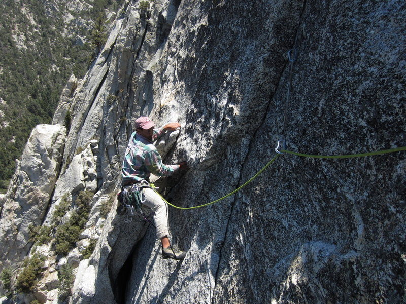 Rock Climbing Photo: top of p3