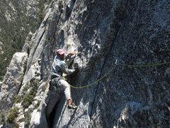 Rock Climbing Photo: top of p3