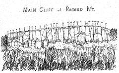 Rock Climbing Photo: Sam Streibert's drawing of the Main Cliff