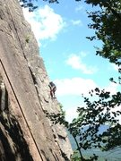 Rock Climbing Photo: Lee heading up Pro Choice