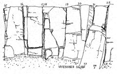 Rock Climbing Photo: Sam Streibert's drawing of the Main Cliff - Wiessn...