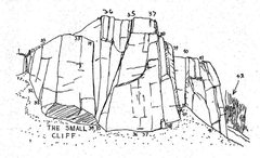 Rock Climbing Photo: Sam Streibert's drawing of the the Small Cliff at ...