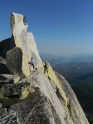 Rock Climbing Photo: Mark Collar on Our Lady of The Needles 5.7, Adrien...