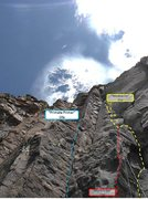 Rock Climbing Photo: A view of the three climbs located near each other