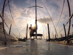 Rock Climbing Photo: 37' Hunter sail boat