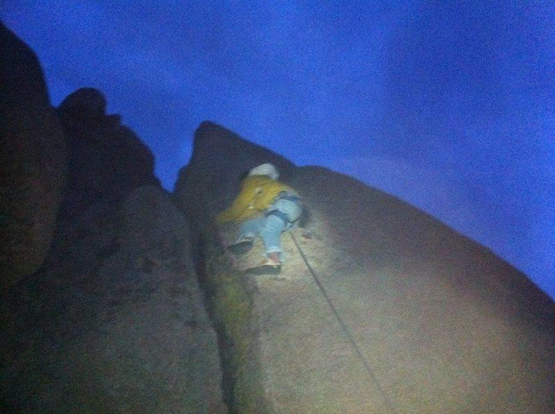 Rock Climbing Photo: night climb