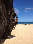 Rock Climbing Photo: Beach Bouldering!  Kitty Cat (V0)