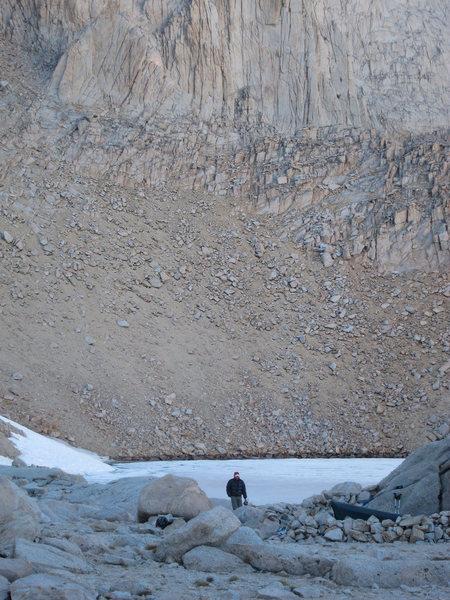Rock Climbing Photo: Another water run at Iceberg Lake