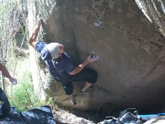 Rock Climbing Photo:  new prolect in right fork. so good