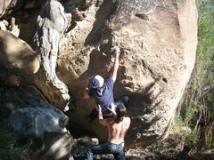 Rock Climbing Photo: new problem in right fork