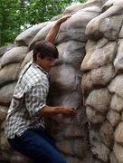 Rock Climbing Photo: Working Bum Boy, no send. Going down next time wit...