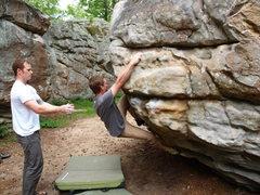 Rock Climbing Photo: Bo working The Stranger