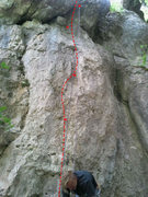 Rock Climbing Photo: I took this picture, THEN saw the anchor up above ...