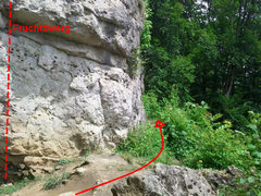 Rock Climbing Photo: The path to the hidden walls is to the right of Fr...