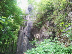 Rock Climbing Photo: Ankatalwand. The climber is in Omaha Beach.