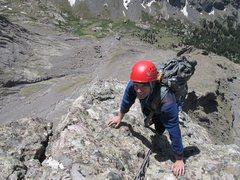Rock Climbing Photo: Aaron Wait (and a nearly hidden Stephen Schmid).