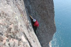 Rock Climbing Photo: Bill Rusk sending and grunting.