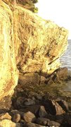 Rock Climbing Photo: CSF boulder - Dyce Head, Castine Maine