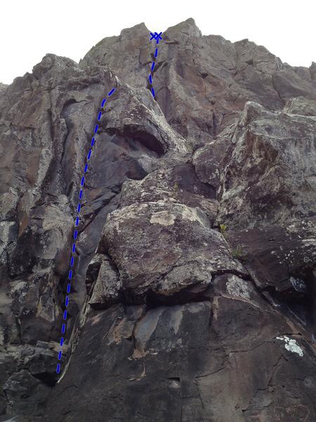 Rock Climbing Photo: Face Over Crack