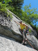 Rock Climbing Photo: Loran Smith gaining the final headwall