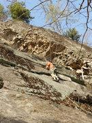 Rock Climbing Photo: Jim Dickson follows Strychnine. The blocky corner ...