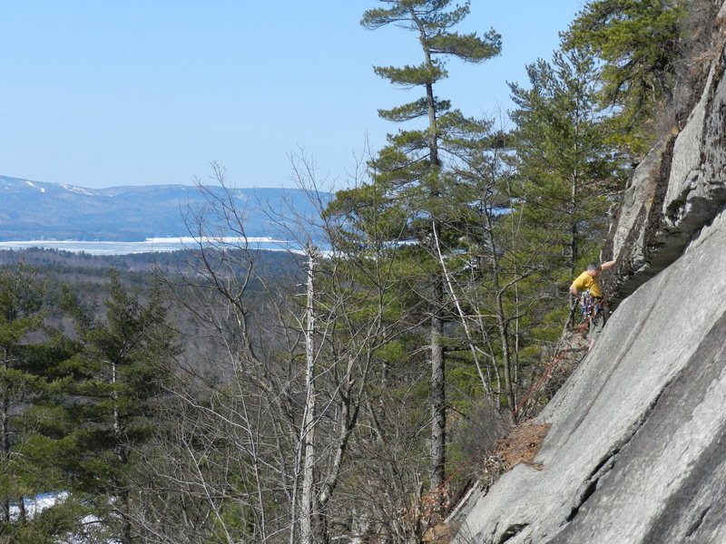 Loran Smith on his route