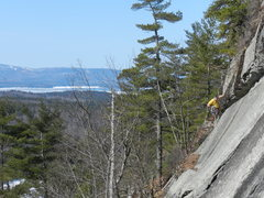 Rock Climbing Photo: Loran Smith on his route