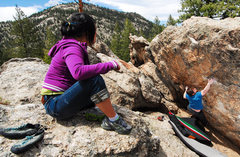 Rock Climbing Photo: Watching the opening moves of Flint Lock. Three Si...