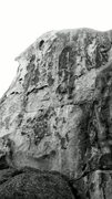 Rock Climbing Photo: The Smell, 5.12c. On the west side of BFD Rock nea...