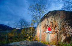 Rock Climbing Photo: Left el Skyland at dusk with Crested Butte glowing...